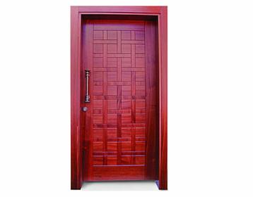 דלת כניסה אדומה
